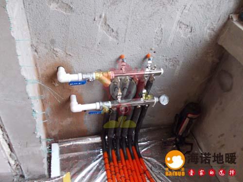 海诺天津地暖华亭国际安装分水器效果