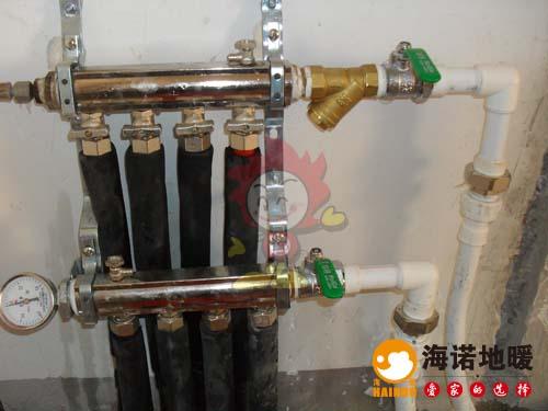 静海金桥国贸中心海诺地暖分水器效果