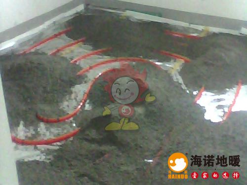 滨海新区金色雅筑海诺地暖施工效果2