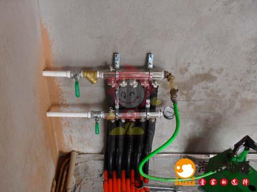 西青芦欣家园海诺地暖分水器效果