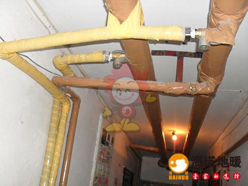 河西安德公寓海诺地暖安装效果