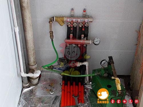 西青洛卡小镇海诺地暖分水器效果