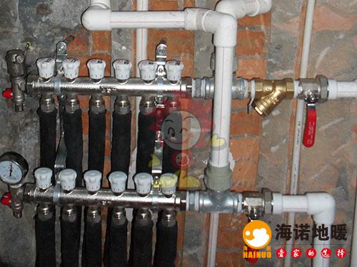 河西新时代花园海诺地暖分水器效果