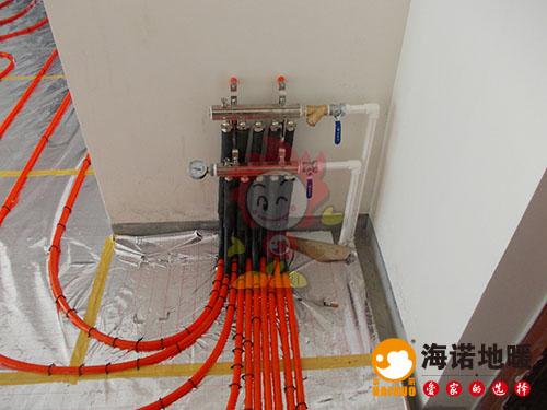 河东大直沽福泽温泉公寓海诺地暖分水器效果
