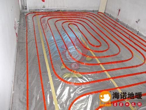 河西环渤海经济中心海诺地暖安装效果1