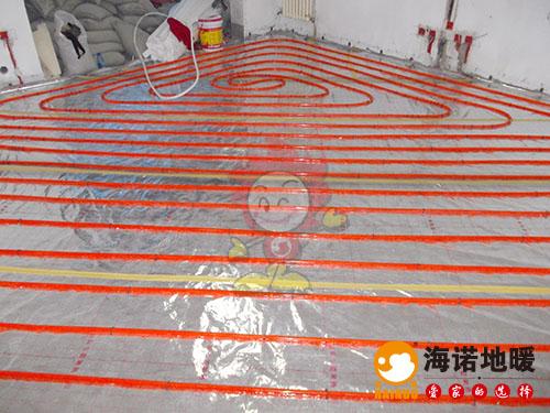 河西环渤海中心海诺地暖安装效果2