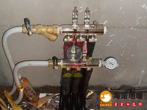 东丽华明镇海诺地暖分水器效果