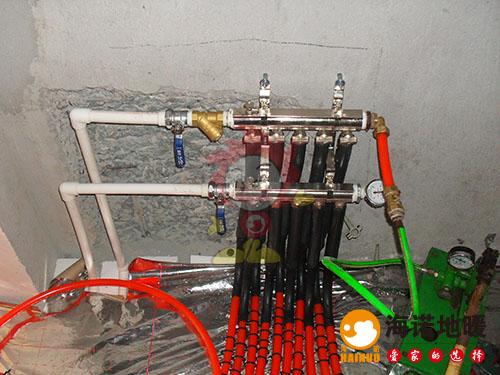 津南区惠安花园海诺地暖分水器效果