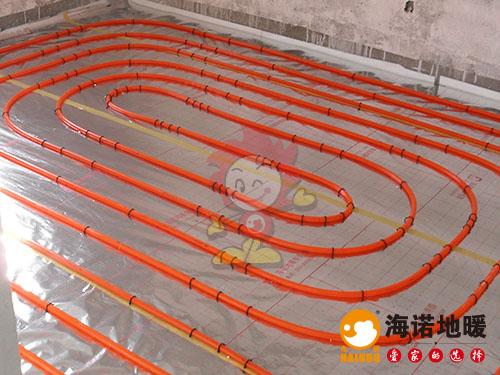 西青梅江康城益康园海诺地暖安装效果1