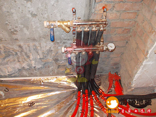红桥中嘉花园海诺地暖分水器效果