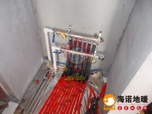 西青境界梅江小区海诺地暖分水器效果