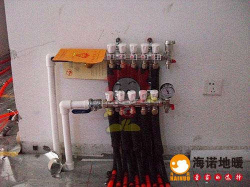 河东太阳城橙翠园海诺地暖分水器效果