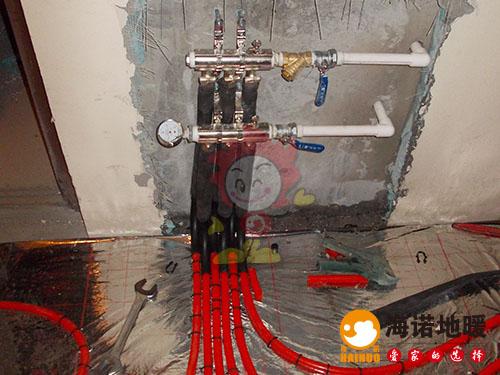 西青区中北镇华亭国际海诺地暖分水器效果