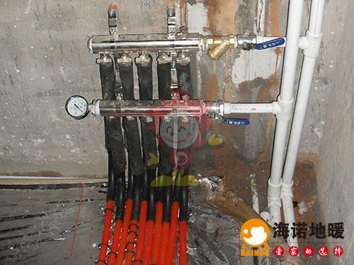 河西江南公寓海诺地暖分水器效果