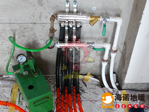 西青梅江康城益康园海诺地暖分水器效果