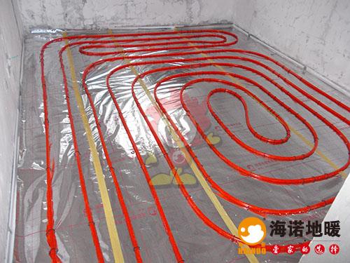 天津红桥奥林匹克花园玉兰苑海诺地暖安装效果1