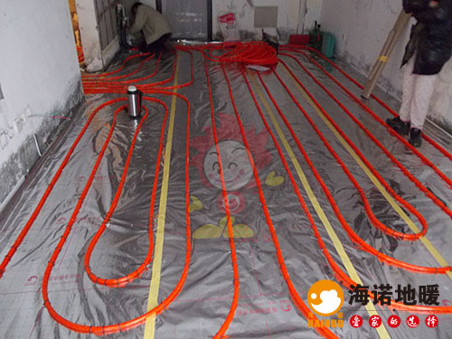 天津红桥奥林匹克花园玉兰苑海诺地暖安装效果2