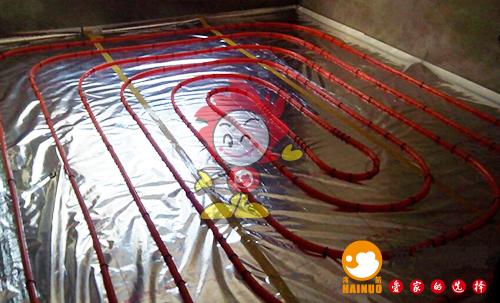 吉利花园海诺地暖盘管施工效果图