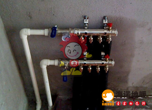 吉利花园海诺地暖分水器施工效果图