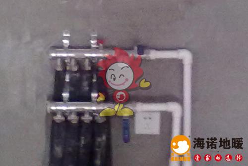 金旺东里海诺地暖分水器施工效果图