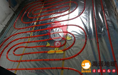 海望园海诺地暖盘管施工效果图