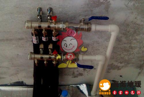 健全里海诺地暖分水器施工效果图