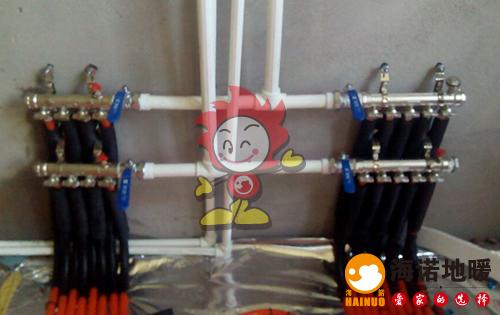 金地格林海诺地暖分水器施工效果图
