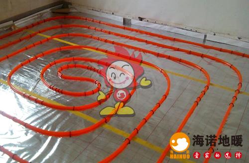 金湾花园海诺地暖盘管施工效果图