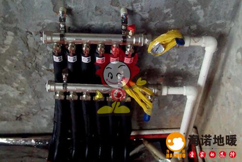 蓝山园海诺地暖分水器施工效果图