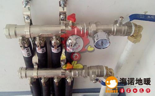 世纪城海诺地暖分水器施工效果图