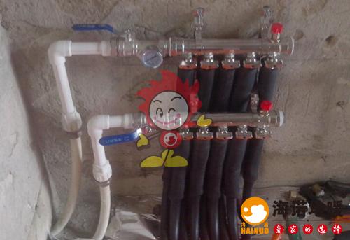 天华里海诺地暖分水器施工效果图