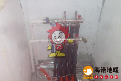 天康园海诺地暖分水器施工效果图