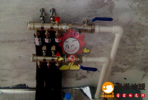 迎水南里海诺地暖分水器施工效果图