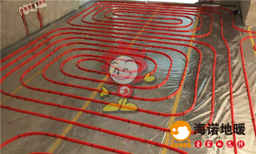 保利罗兰公馆海诺地暖盘管施工效果图
