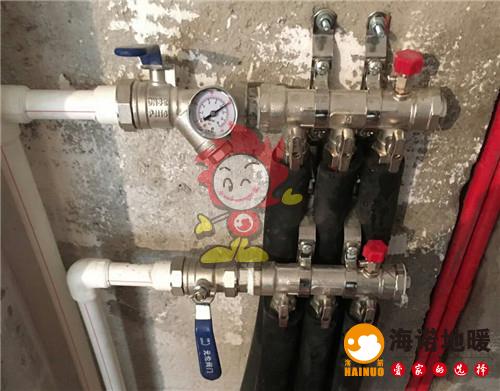 保利罗兰公馆海诺地暖分水器施工效果图