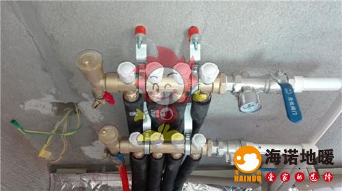 长湖湾海诺地暖分水器施工效果图