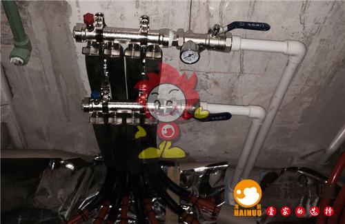 依湖园海诺地暖分水器施工效果图