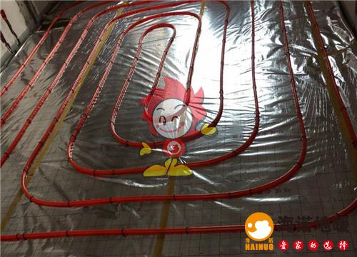 金地艺境海诺地暖盘管施工效果图