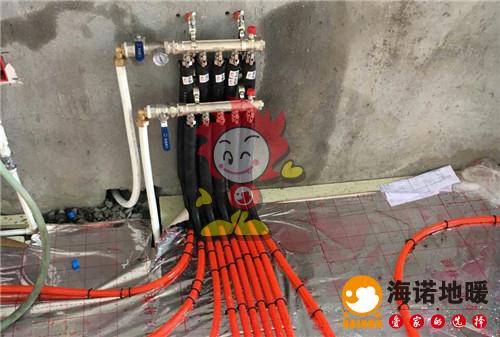 金地艺境海诺地暖分水器施工效果图
