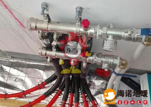 正荣润璟湾海诺地暖盘管施工效果图