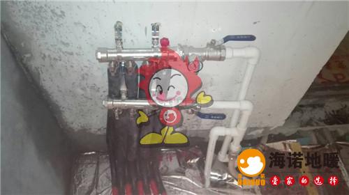 盈翠名轩海诺地暖分水器施工效果图