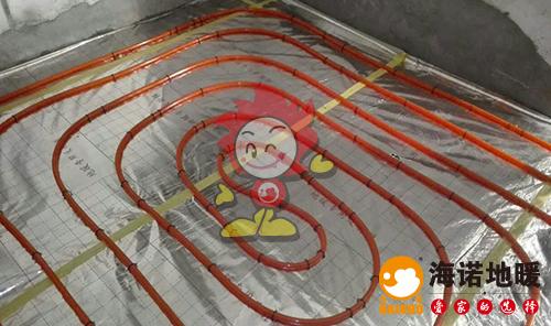 振河里海诺地暖盘管施工效果图