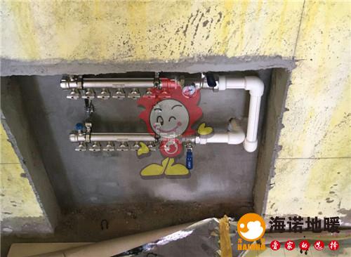 地球村海诺地暖分水器施工效果图