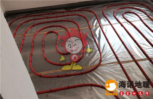 福松源庄海诺地暖盘管施工效果图