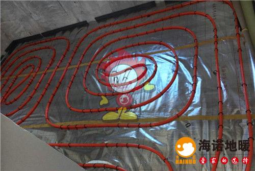 海颂园海诺地暖盘管施工效果图