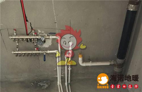 合畅园海诺地暖分水器施工效果图
