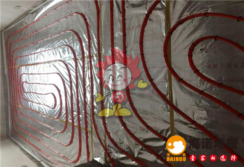 红磡公寓海诺地暖盘管施工效果图