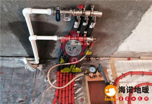 华宁北里海诺地暖分水器施工效果图