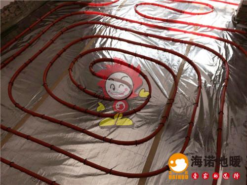华宁北里海诺地暖盘管施工效果图