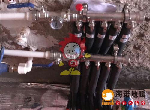 华章里海诺地暖分水器施工效果图